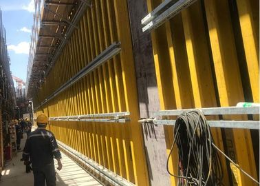 H20 Timber Beam Wall Formwork System Safety Protection With Scaffold Bracket