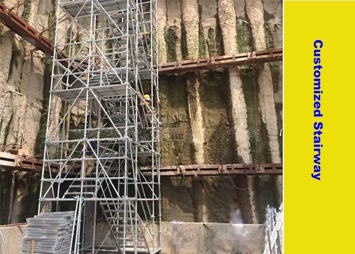 Universal Ringlock Stair Scaffolding System For Deep Foundation Project