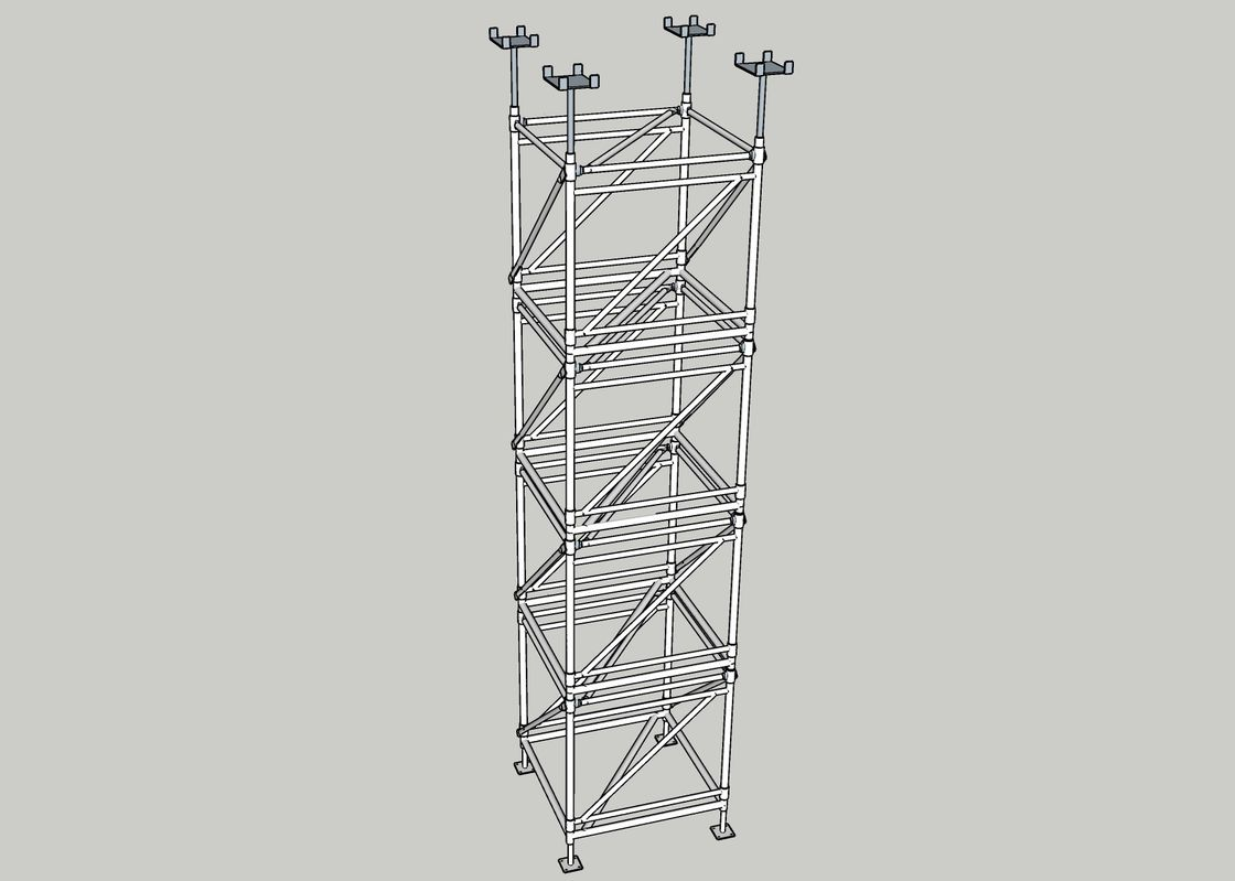 Adjustable & Supportive Steel Framework For Concrete Slab Formwork